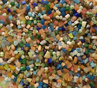 4 LBs Glass Bead chips and Cats eye beads BULK MIX