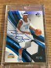 2004 05 Sp Authentic CARMELO ANTHONY Authentic Fabrics Auto Jersey 44 50 Nuggets