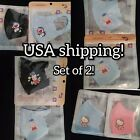 2 Pc Hello Kitty Peppa pig Anime Cat Kids Face Mask Breathable US Shipping