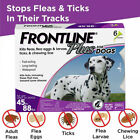 Frontline Plus for Dogs 45 88 lbs Flea and Tick Treatment Control 6 Doses