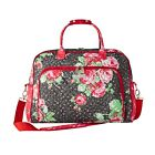 PIONEER WOMAN QUILTED FABRIC WEEKENDER BAG IN ROSE GARDEN DESIGN TRAVEL LUGGAGE