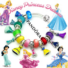 PANDORA SILVER BRACELET Adorned with European Charms Disney Princess Dresses New