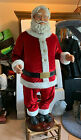 Animated Santa Claus 5 feet tall sings and dances excellent condition