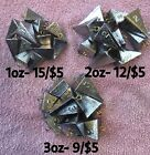 Fishing Bank Pyramid Sinker 1oz 2oz3ozor 4oz Handmade by Fisherman
