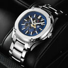 Pagani Design 41mm sapphire glass steel Bracelet Automatic mens watch blue dial