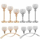 Crystal Candle Holder Hollow Lamp Tea Light Stand Candelabra Wedding Party Decor