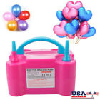 Portable Double High Speed Electric Balloon Air Pump Inflator 110V Blower Party