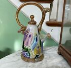 Paul Counts Signed Handblown Multiple Overlay Art Glass Teapot