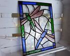 Dragonfly Stained Glass hanger for wall window or suncatcher