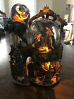 Beautiful Light Up 3 Snow Globe Nativity Scene Plays The First Noel