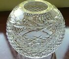 Round Waterford Crystal Rose Bowl Vase in Glandore Pattern EUC