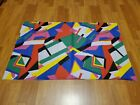 Awesome RARE Vintage Mid Century retro 70s 80s wild abstract colorful fabric