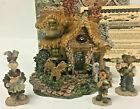 Boyds Bearly Built Villages 1st Edition Baileys Cozy Cottage & Accessories w Box