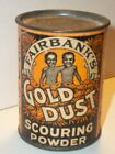 NOS 1920 Tin FAIRBANKS Sample GOLD DUST SCOURING POWDER Mint Unopened CANRARE
