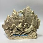 Collection Chinese Tibet Silver Handwork Carved Horses Statue