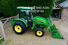 JOHN DEERE 4720 COMPACT TRACTOR 66HP 4WD HYDRO 400CX LOADER  4 IN 1 BUCKET V5