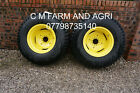 NEW JOHN DEERE COMPACT TRACTOR 3038E 3036E R3 REAR GALAXY TURF TYRES MIGHTY MOW