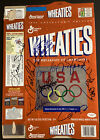 Herb Brooks Signed Cereal Box 1996 Olympics Autograph 9 Sigs w Leon Spinks JSA