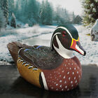 Vintage Hand Carved  Painted Peking Duck Minature Decoy Signed 625 Long
