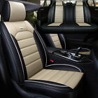 Luxury Car Sit Covers 5 Seats PU Leather Universal Cushion Set SUV Accessories
