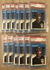 (16) 1987 Fleer Barry Bonds RC PSA 9 BGS 9 - Hand Picked. Personal Collection