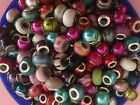 ACRYLIC METAL AND MURANO GLASS EUROPEAN BEADS SPACERS CHARMS JEWELRY MAKING
