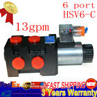 Hydraulic Solenoid Selector Diverter Valve 13 GPM 12v DC 6 Ports with 10 SAE