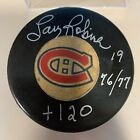 LARRY ROBINSON inscribed auto MONTREAL CANADIENS signed autographed puck COA