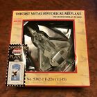 F 22 Diecast Collectible 5 Metal Model Airplane USA Military Vintage Air Force