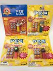 SEALED LOT OF 4 PEZ Candy Keychain Dispensers Bugs Bunny Uncle Sam Lion Monkey