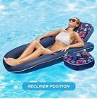 AQUA Ultimate 2 in 1 Recliner  Tanner W Caddy Inflatable Pool Float Raft Lounge