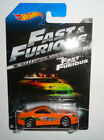 Hot Wheels 2013 The Fast and the Furious Movie Toyota Supra Orange Silver Wing