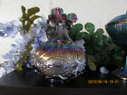 BEAUTIFUL FENTON CARNIVAL GLASS SWAN VASE 8  TALL