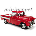 AUTOWORLD AW265 1957 CHEVROLET CAMEO PICK UP TRUCK 1 18 DIECAST MODEL CAR RED