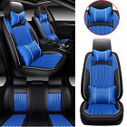 Luxury Car Seat Covers Full Set Top Pu Leather Frontrear 5-seats Suv Truck Auto