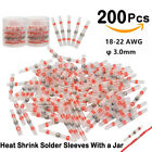 100500pcs Solder Seal Heat Shrink Sleeve Wire Red Connectors Terminals Awg22-18