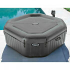 Intex 120 Bubble Jets 4 Person Octagonal Portable Inflatable Hot Tub Spa 28433WL
