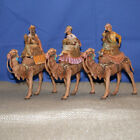 FONTANINI THREE KINGS on CAMELS 51514 5 NATIVITY VILLAGE RETIRED DATE 1996