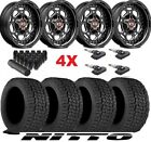 20 BLACK WHEELS RIMS TIRES NITTO 275 55 20 XD FUEL MOTO OFF ROAD