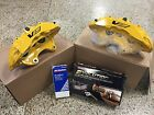 2009 13 Cadillac CTS V Brembo Yellow 6 Piston Front Calipers pads + pins + Bolts