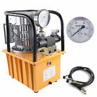110V Electric Hydraulic Pump Double Acting Pedal Solenoid Valve+Safety Valve US