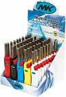 50 MK LIGHTER Full Size Refillable Candle Windproof Jet Lighters Assorted Colors