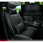 Luxury Universal Car Seat Covers 5 Seat PU Leather Protect Accessories Cushion