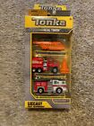 Rare Tonka Diecast First Responders 3 Pack Helicopter Fire Rescue Pumper 56088
