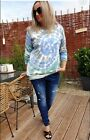 Leichter Pullover Shirt KNIT SWEATER HAPPY TIE DYE 34 42 Italy Lindsay SALE