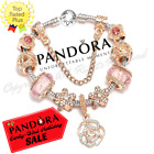 Authentic Pandora Charm Bracelet Silver Rose Gold Pink with European Charms New