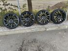 """20"""" RANGE ROVER AUTOBIOGRAPHY TURBINE ALLOYS AND 4 TYRES (GLOSS BLACK)"""