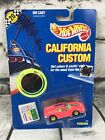 Hot Wheels 1990 Cal Custom FERRARI Rare BLUE  YELLOW Bumper Interior 1302