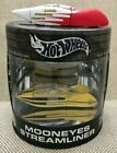 HOT WHEELS YELLOW MOONEYES STREAMLINER PLUS JOCKOS STREAMLINED DRAGSTER