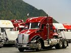 1 64 DCP RED BLACK KENWORTH T680 W MID ROOF SLEEPER